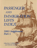 Passenger and Immigration Lists Index