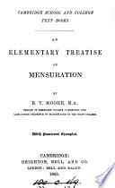 An elementary treatise on mensuration