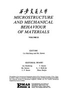 Microstructure and Mechanical Behaviour of Materials