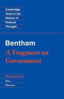 Bentham: A Fragment on Government