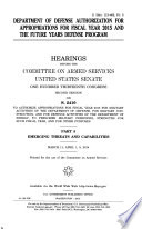 Department of Defense Authorization for Appropriations for Fiscal Year 2015 and the Future Years Defense Program  Senate Hrg  113 465  PT 5  March 11  April 1  8  2014  113 2