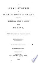 An Oral System of Teaching Living Languages Book