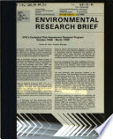 EPA s Ecological Risk Assessment Research Program  October 1985   March 1988