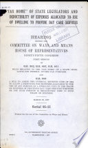 Tax Home  of State Legislators and Deductibility of Expenses Allocated to Use of Dwelling to Provide Day Care Services Book