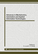 Advances in Mechatronics  Automation and Applied Information Technologies