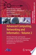Advanced Computing, Networking and Informatics- Volume 2