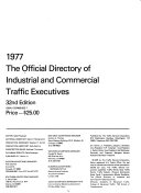 The Official Directory of Industrial and Commercial Traffic Executives