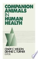 Companion Animals In Human Health Book