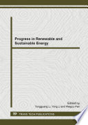 Progress in Renewable and Sustainable Energy Book