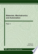 Materials, Mechatronics and Automation