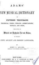 Adams' New Musical Dictionary