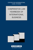 Pdf Comparative Law Yearbook of International Business