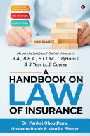 A Handbook on Law of Insurance