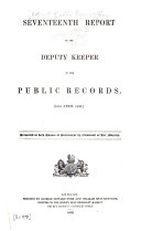 The 1st  Annual Report of the Deputy Keeper of the Public Records