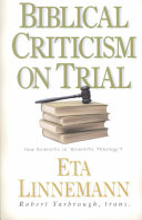 Biblical Criticism On Trial