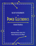 Recent Developments in Power Electronics