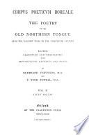 Corpus poeticum boreale  Court poetry Book