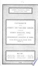 Catalogue of the     library of     John Dillon     which will be sold by auction