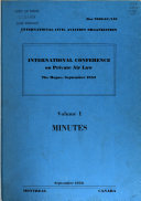International Conference on Private Air Law  The Hague  September 1955