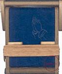 Bookchair Mini Praying Hands Blue