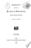 Selections from the Records of Government