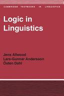 Logic in Linguistics