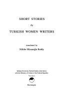 Short Stories by Turkish Women Writers Book