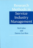 Research Methods in Service Industry Management
