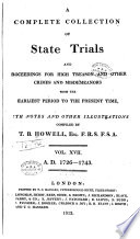 A Complete Collection Of State Trials And Proceedings For High Treason And Other Crimes And Misdemeanours  Book PDF