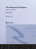 Pdf The Research Project