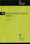 Noncommutative Rings