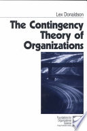 """The Contingency Theory of Organizations"" by Lex Donaldson"