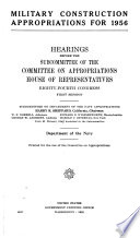 Military Construction Appropriations for 1957
