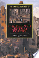 The Cambridge Companion to Eighteenth-Century Poetry