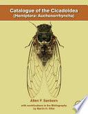 Catalogue of the Cicadoidea (Hemiptera: Auchenorrhyncha)