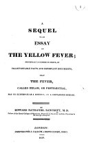 A Sequel to an Essay on the Yellow Fever
