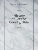 History of Greene County  Ohio