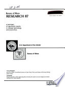 Bureau of Mines Research