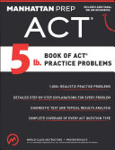 5 lb  Book of ACT Practice Problems Book