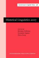 Pdf Historical Linguistics 2007 Telecharger