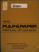 Pulp and Paper Manual of Canada Book