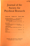 Pdf Journal of the Society for Psychical Research