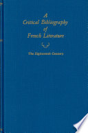 A Critical Bibliography Of French Literature V4 18th C