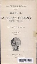HANDBOOK OF AMERICAN INDIANS