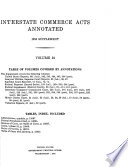 Interstate Commerce Acts Annotated Book