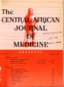 Central African Journal of Medicine