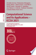 Computational Science and Its Applications     ICCSA 2021