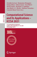 Computational Science and Its Applications – ICCSA 2021