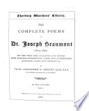 The Complete Poems of Dr. Joseph Beaumont (1615-1699): Memorial-introduction. Psyche, cantos I-XL Pdf/ePub eBook