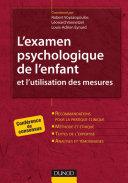 Pdf L'examen psychologique de l'enfant et l'utilisation des mesures Telecharger